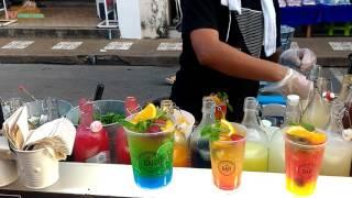 Street food cocktail drink @Patong Banzaan market