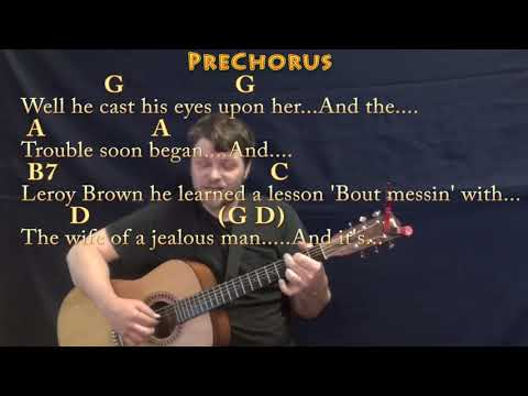 Bad Bad Leroy Brown (Jim Croce) Fingerstyle Guitar Cover Lesson with Chords/Lyrics