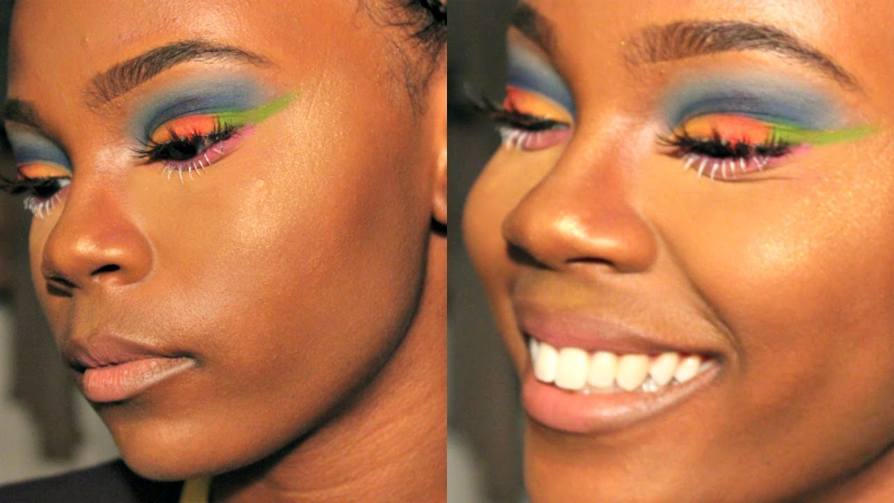 Tropicalhawaii Inspired Makeup Look Youtube