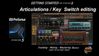 Articulations and Key Switch editing - PreSonus Studio One 5