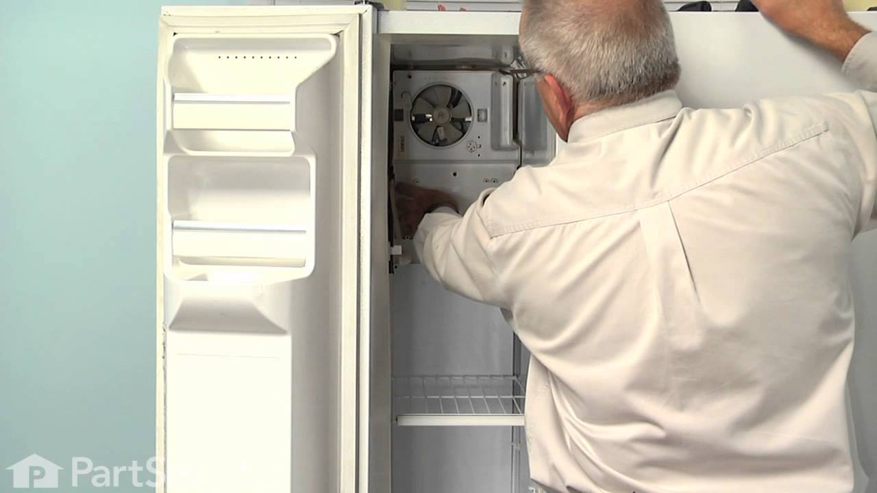 Refrigerator Repair - Replacing the Evaporator Fan Motor (GE Part #  WR60X190)