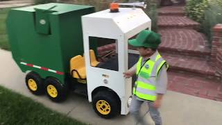 """Trick or Treating on Halloween with Aidan """"The Garbage Truck Kid"""" 