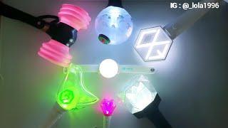 My Kpop Lightstick collection 2019 Sep