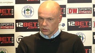 FULL FIRST UWE ROSLER PRESS CONFERENCE AS WIGAN ATHLETIC MANAGER