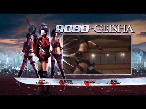 Robo Geisha DVD Main Menu