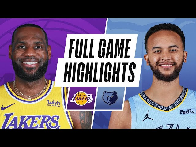 LAKERS at GRIZZLIES | FULL GAME HIGHLIGHTS | January 3, 2021
