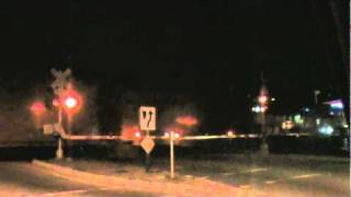 Midnight Freight Train to East County San Diego (02285) 1/17/2011