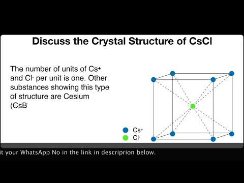 Discuss the crystal Structure of CsCl.