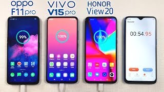 Oppo F11 Pro vs Vivo V15 Pro vs Honor View 20 Charging Test | Who is the Winner