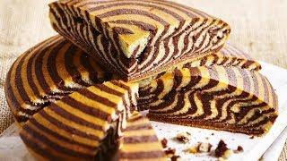 Zebra Stripe Ogura Cake Recipe