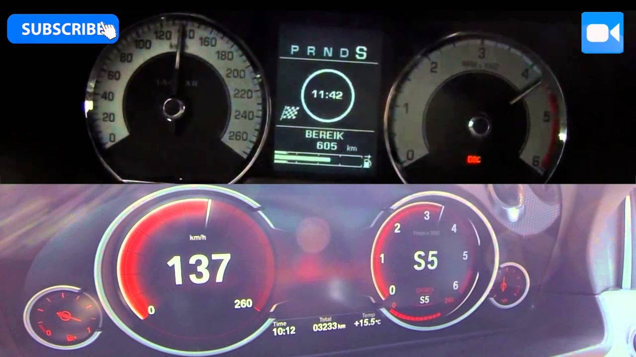 2015 BMW 530d vs Jaguar XF 3 0D 0 210 km h Acceleration BATTLE