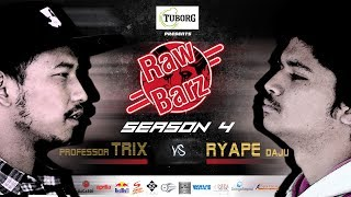 PROFESSOR TRIX VS RYAPE DAJU | Tuborg Present's RawBarz Rap Battle S04E01 (Official Video)