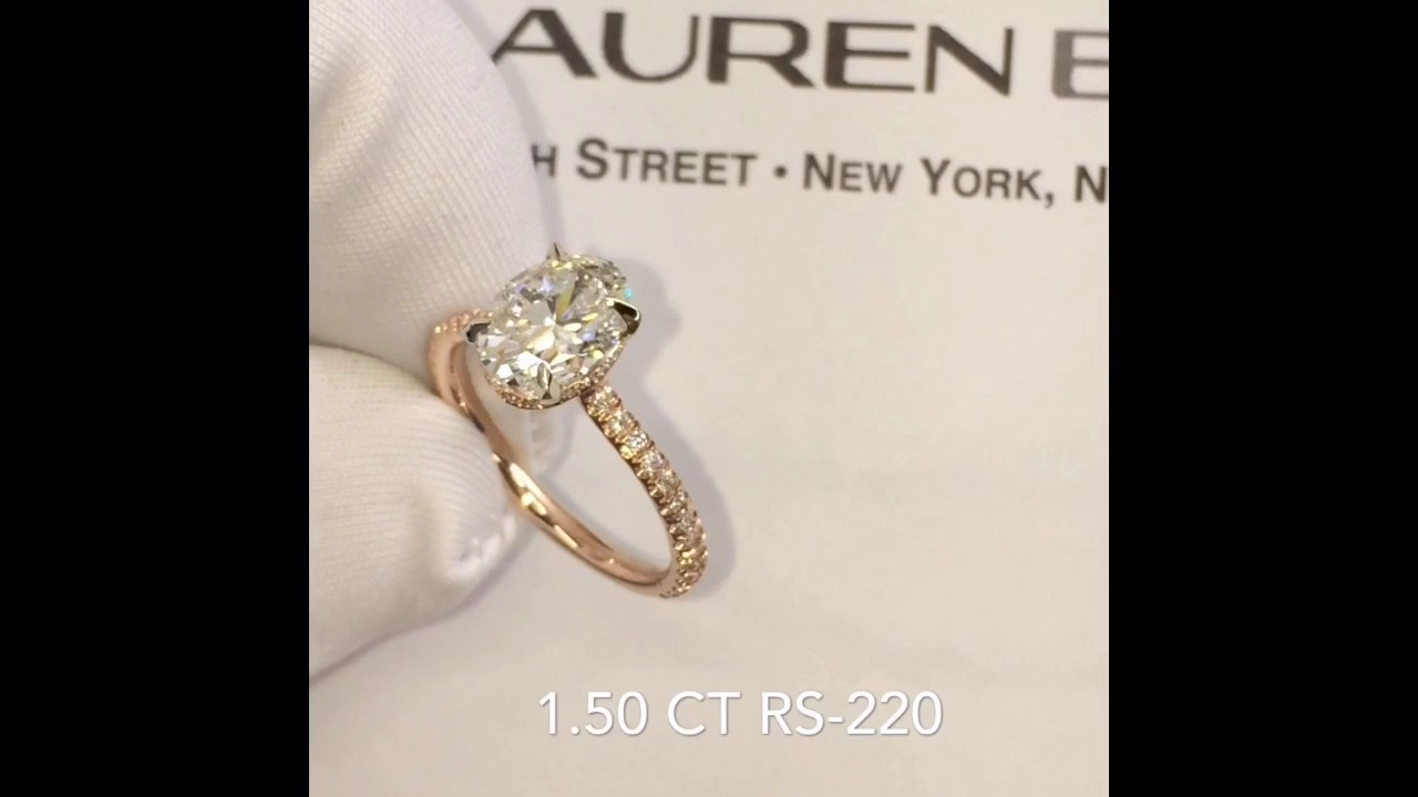 150 ct Oval Diamond Engagement Ring YouTube