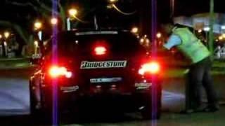 Mitsubishi Evo 9 Exhaust flames