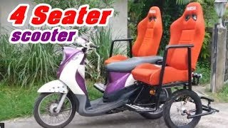 Yamaha Fino Side Wheel Attachment Kit with Extra Seat รถผู้สูงอายุ รถสามล้อ(หลัง)
