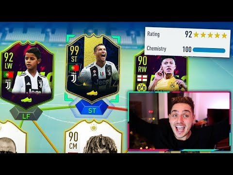 OMG! CR7 SON!! FUTURE STARS 192 WORLDS HIGHEST RATED FUT DRAFT CHALLENGE - FIFA 19 FUTURE STARS!