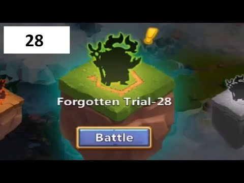 Forgotten Trial Level 28 Explained In Detail Super TOUGH Castle Clash