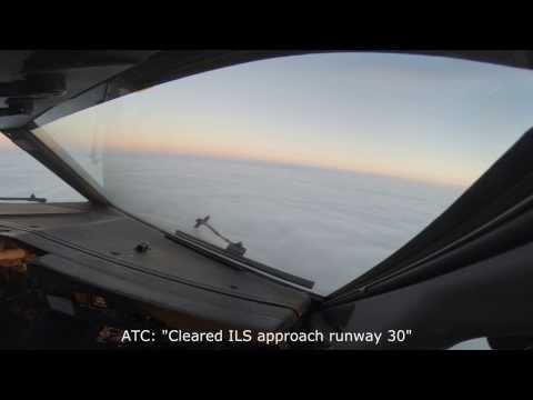 Boeing 737 Cockpit View  -  Landing On Limits In Paris Beauvais