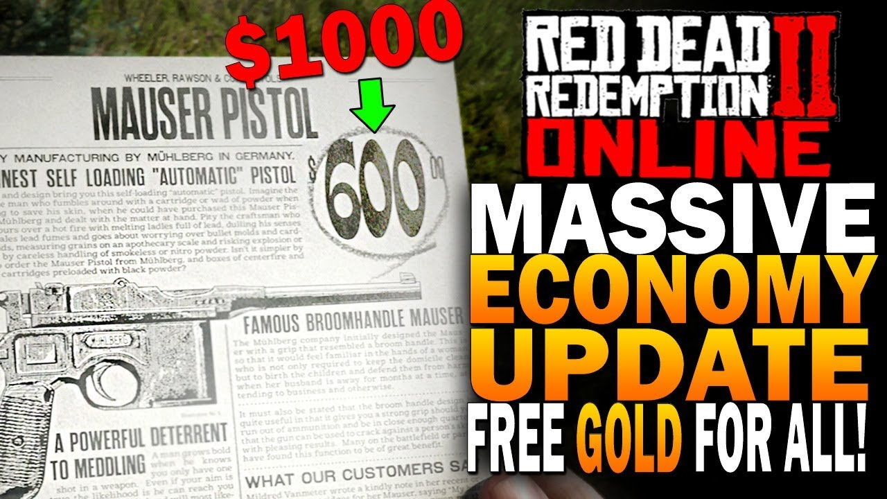 HUGE Economy Update! FREE Gold Bars & Money For All! Red Dead Redemption 2 Online Beta Update
