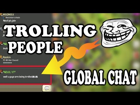 Clash Of Clans | Trolling People On Global Chat (MUST WATCH)
