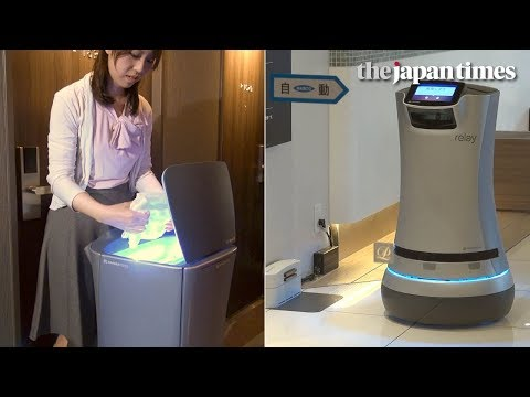 Shinagawa Prince Hotel N Tower's delivery robot in Tokyo, Japan