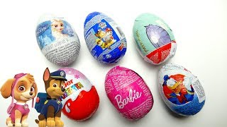Super Surprise Egg Collection with Frozen Paw Patrol and Barbie