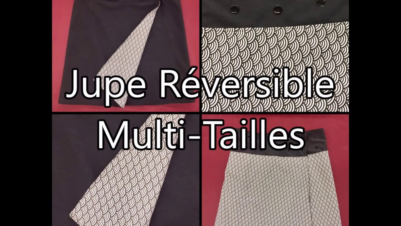 350285a5bffcac Jupe Réversible Multi Tailles - Tuto Couture