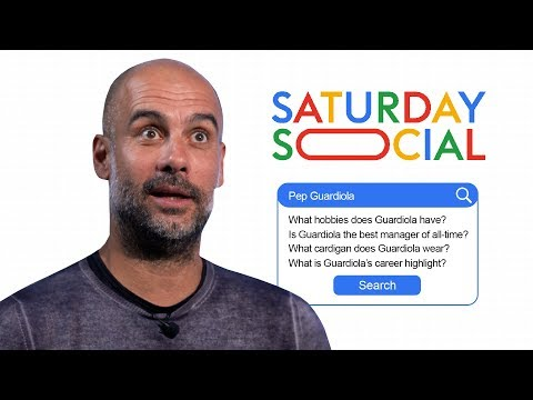 Pep Guardiola takes the Saturday Social Autocomplete Challenge