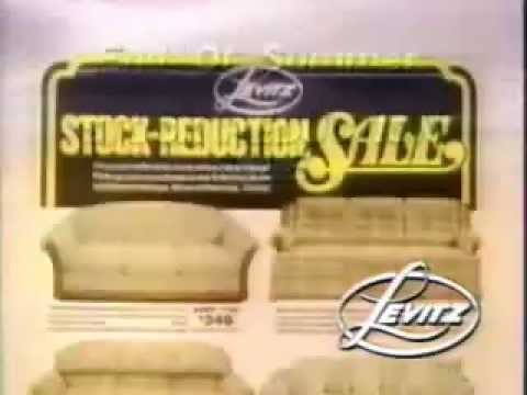 Levitz furniture stores - ad from 1986
