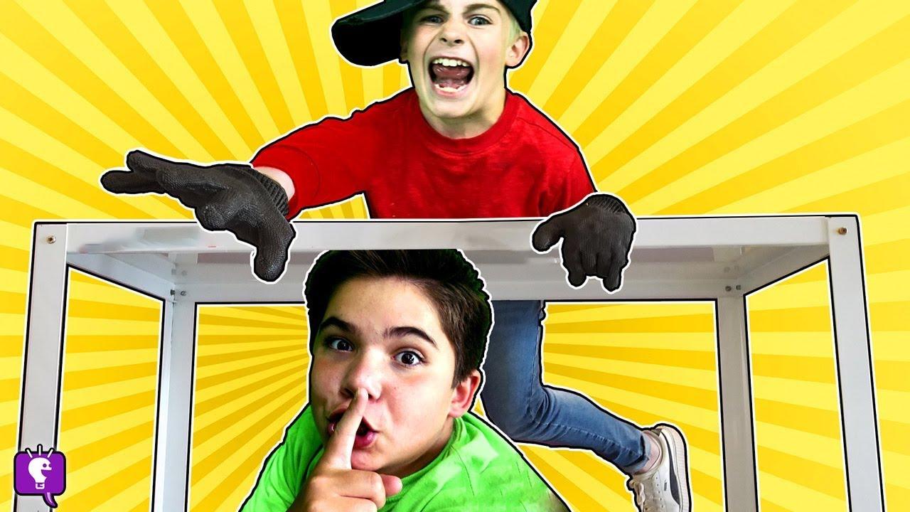 HIDE and SEEK vs HobbyKids EVIL TWINS! Winner gets HobbyKids Adventures Cartoon!