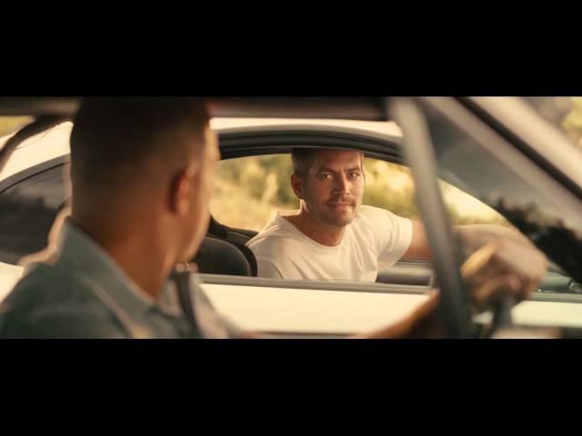 Hommage à Paul Walker - Fin de Fast & Furious 7