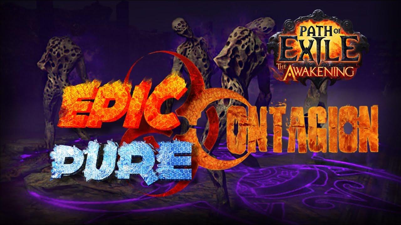 path of exile guia da build epic pure contagion build 2 1 youtube