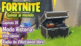 FORTNITE SAVE THE WORLD #28 VILLATABLON - FREE VILLATABLON RADIO - GAMEPLAY IN ENGLISH