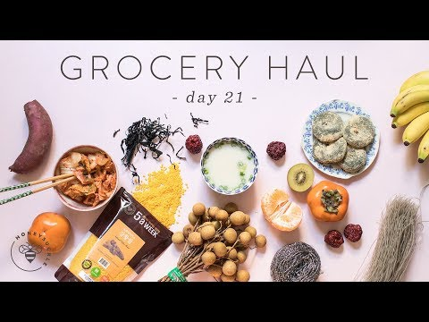 Healthy Asian Market GROCERY HAUL from H Mart! 🐝 DAY 21