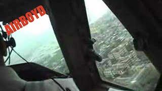 Cockpit Video Landing Hong Kong Kai Tak In Rain (1998)