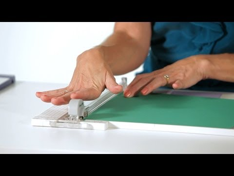 How to Use a Paper Trimmer   Scrapbooking