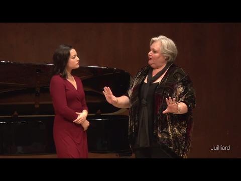 Kelsey Lauritano, mezzo-soprano & Michał Biel, piano | Juilliard Stephanie Blythe Master Class