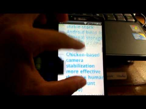 review nand-android stock sense rom by cottula