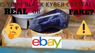 How to tell if a Galaxy's Edge Black Kyber Crystal is GENUINE or FAKE