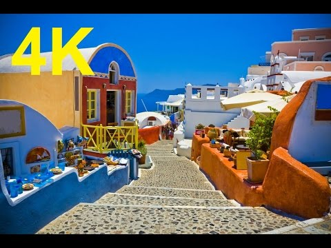 Sony 4k Demo Movie Relax Video Santorin Greece  Around the World 4k