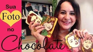 SUA FOTO NO CHOCOLATE, obra de arte comestível, por Camila Camargo