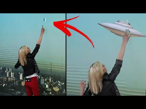 SHE Sees a UFO on LIVE TV!!! 4 Cases Of Unexplained Unidentified Flying Object Videos!