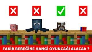 ZENGİN VS FAKİR #249 - Fakir Bebeğine Oyuncak Alıyor (Minecraft)