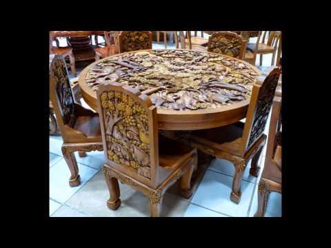 Резная мебель - красивые образцы.