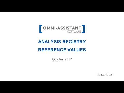 M13 - Analysis Reference Values - v.9.11.20 - Omni-Assistant Software