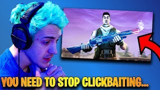 Ninja CALLS OUT SypherPK For Clickbaiting His YouTube Videos! | Fortnite Highlights & Funny Moments