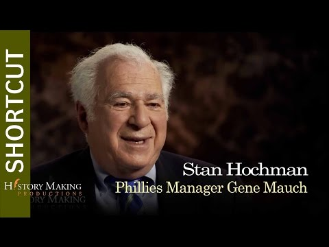Stan Hochman on Phillies Manager Gene Mauch