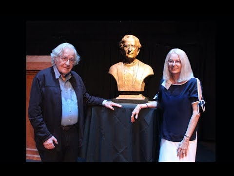 Noam Chomsky Bronze Portrait Bust Unveiling II