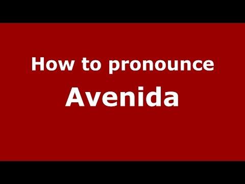 How to pronounce Avenida (Colombian Spanish/Colombia)  - PronounceNames.com