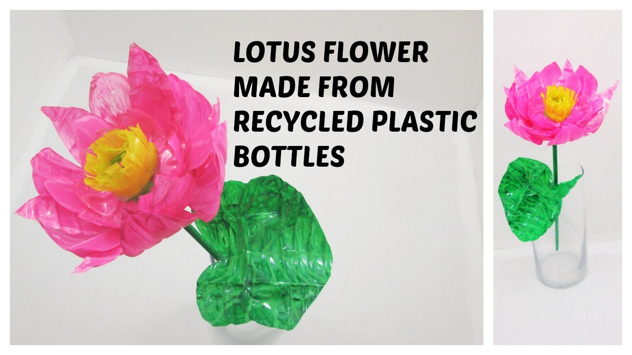 Diy Lotus Flower Made From Recycled Plastic Bottles Youtube